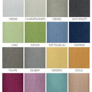 Farbkollektion, 16 Farben, Tencel-Baumwoll-Leintuch,