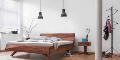 Gabo Ambiente das Bett aus Massivholz