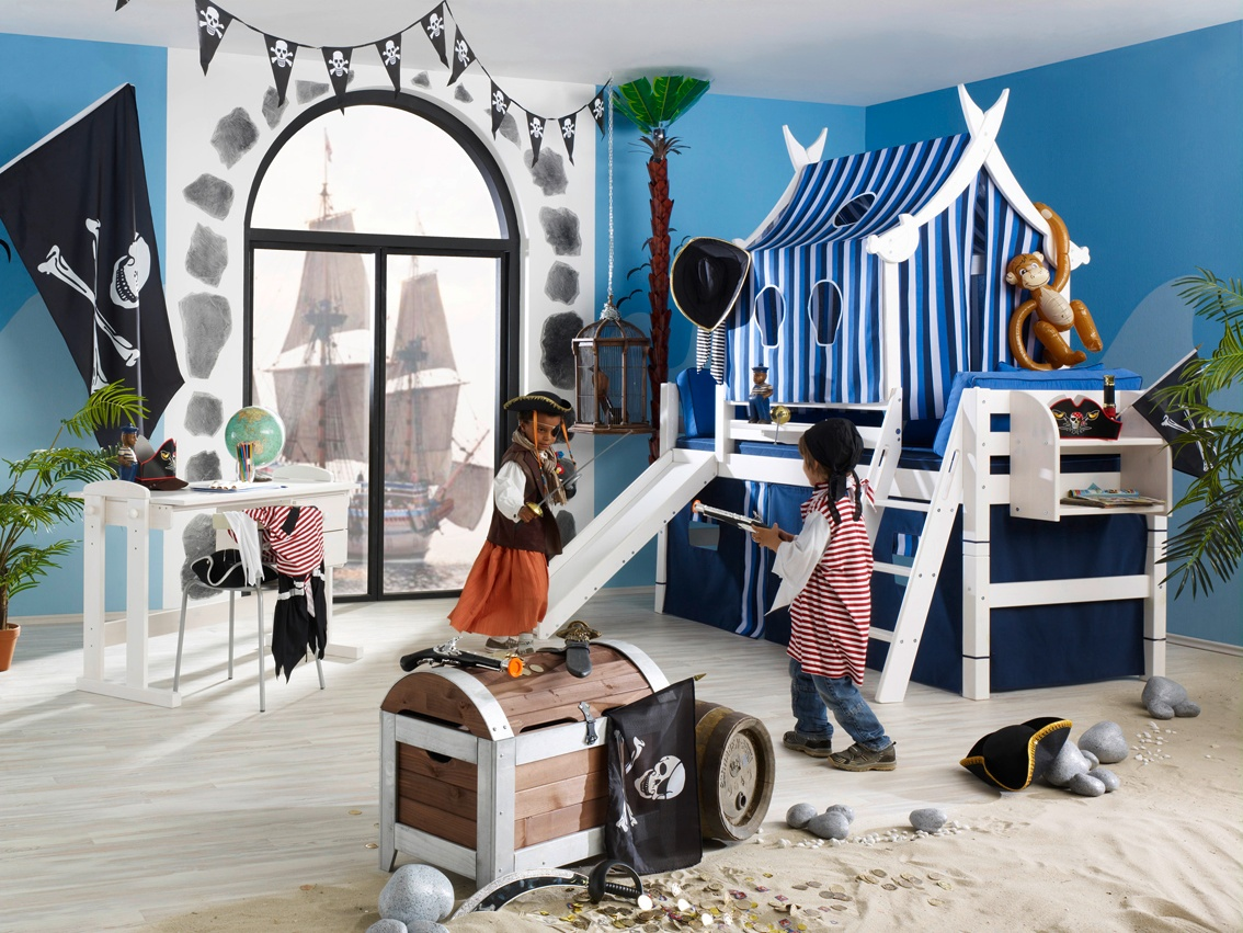 Hochbett in Wien kaufen Kinderbetten Wien - Kinderbett Pirat Luca ö